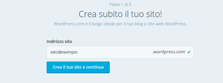 creare un blog wordpress